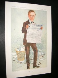 Vanity Fair Print 1911 James Louis Garvin, Newspaperman